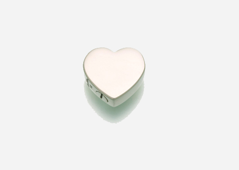Slide Heart Pendant- Large- Sterling Silver Image