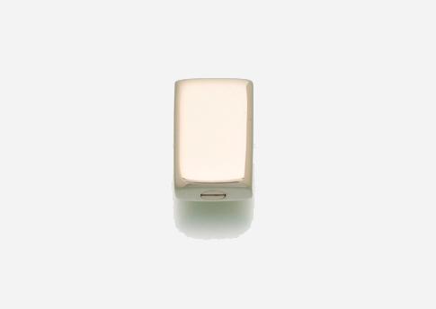 Slide Rectangle Pendant - Gold Vermeil Image