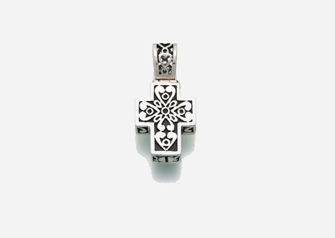 Filigree Cross Pendant - Sterling Silver Image