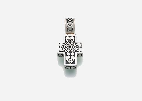 Filigree Cross Pendant - Sterling Silver Image