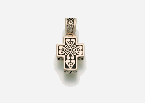 Filigree Cross Pendant - Gold Vermeil Image