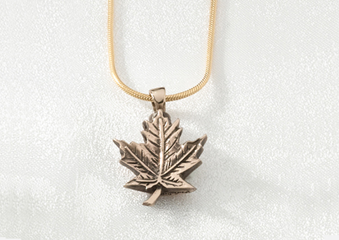 Maple Leaf Pendant - Brass Image