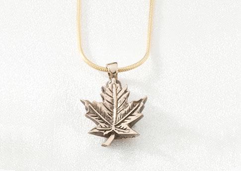 Maple Leaf Pendant - Gold Vermeil Image