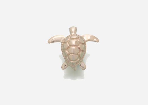Sea Turtle Pendant - Gold Vermeil Image