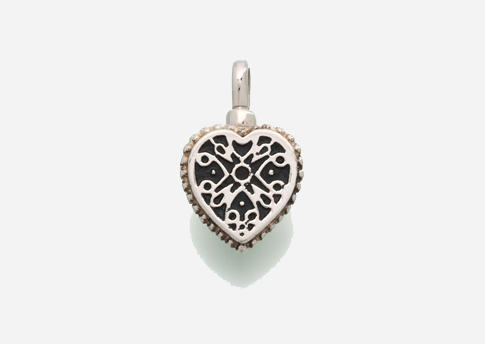 Small Filigree Heart Pendant - Sterling Silver Image
