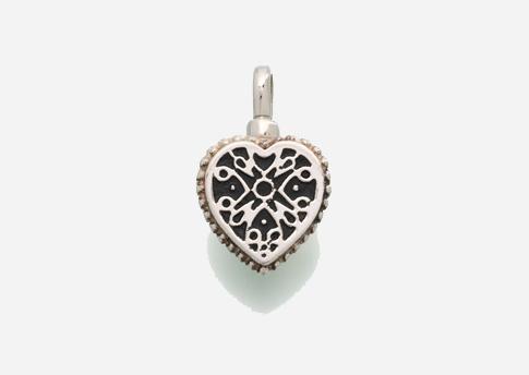 Small Filigree Heart Pendant - Sterling Silver Image