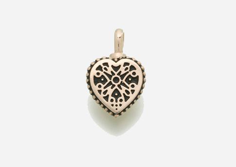 Small Filigree Heart Pendant - Gold Vermeil Image