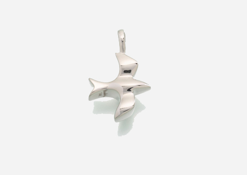 Dove Pendant - Stirling Silver Image