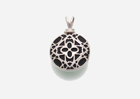 Filigree Round Pendant - Stirling Silver Image