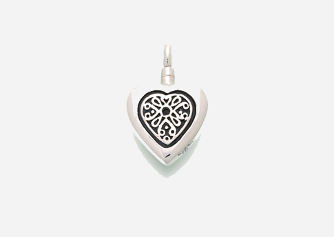 Heart Pendant with Sterling Silver Insert Image