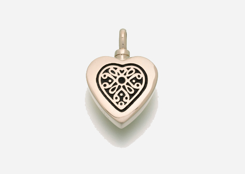 Heart Pendant with Gold Filigree Insert Image