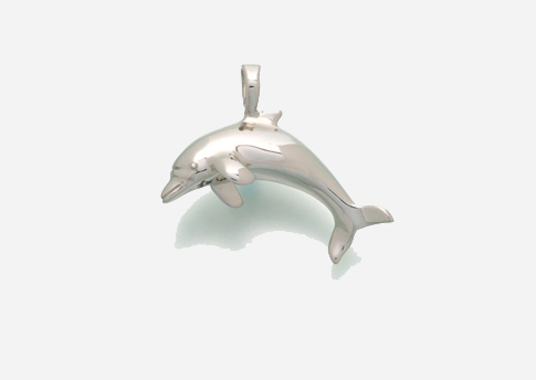 Dolphin Pendant - Sterling Silver Image