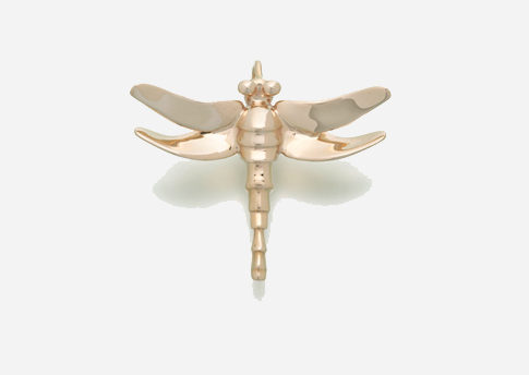 Dragonfly Pendant - Gold Vermeil Image