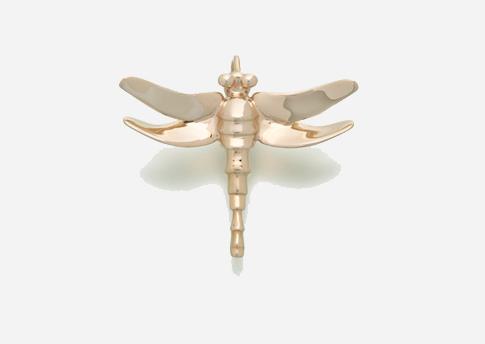 Dragonfly Pendant - Gold Vermeil Image
