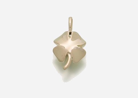 4 Leaf Clover Pendant - Gold Vermeil Image