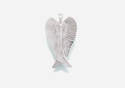Angel Wings Pendant - Antique Silver Image