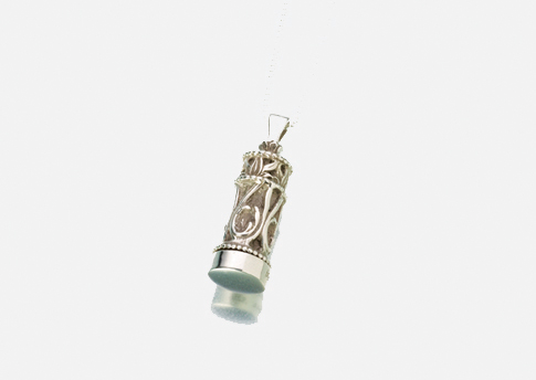 Small Cylinder Pendant - Cromate Silver Image