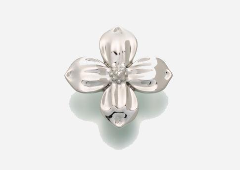 Dogwood Blossom Pendant - Sterling Silver Image