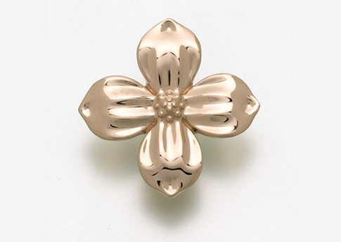 Dogwood Blossom Pendant - Gold Vermeil Image