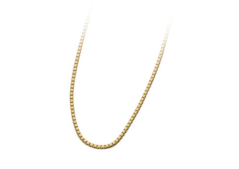 24 Inch Box Chain - Gold Vermeil Image