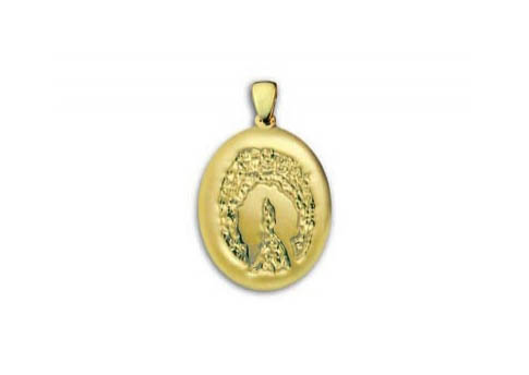 Grand Print Charm - Silver and Gold Image