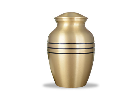 Brushed Bronze Finished Urn Image