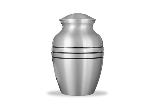 Brushed Pewter Finished Urn Image