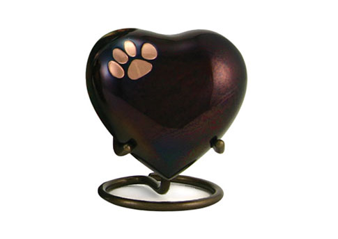 Keepsake Heart - Classic Single Paw Raku Image