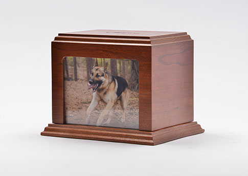 Solid Wood Photo Urn - Cherry Image