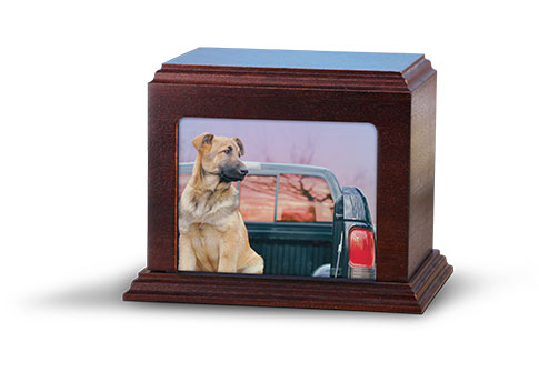 Elegant Photo Urn - Mahogany Image