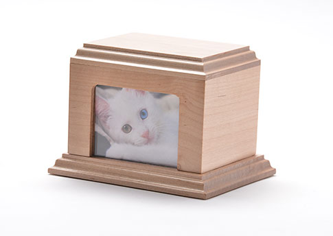 Elegant Photo Urn - Maple Image