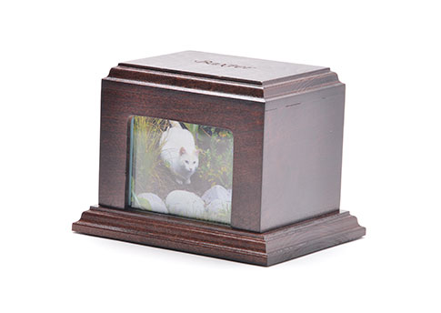Solid Wood Photo Urn - Walnut Image