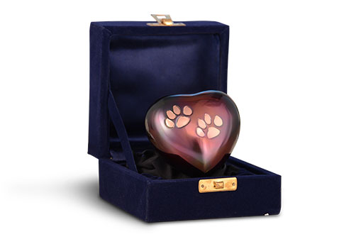 Raku/Copper Odyssey Keepsake Heart Image