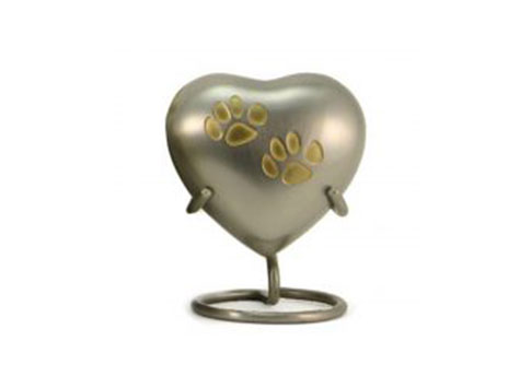 Keepsake Heart - Odyssey Double Paw Pewter Image