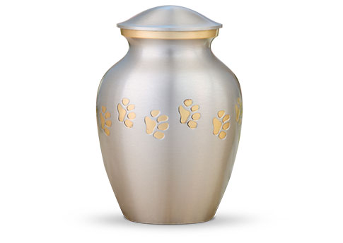 Classic Paw Print Urn - Pewter Image