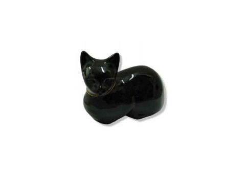 Resting Cat Urn - Black Image