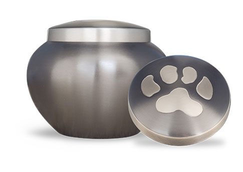 Slate/Pewter Single Paw Print Urn Image