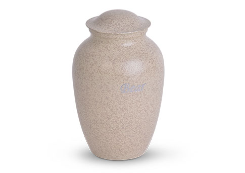 Decorative Metal Urn - Tan Image