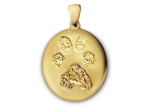 Custom Paw Print Charm - Silver and Gold Image