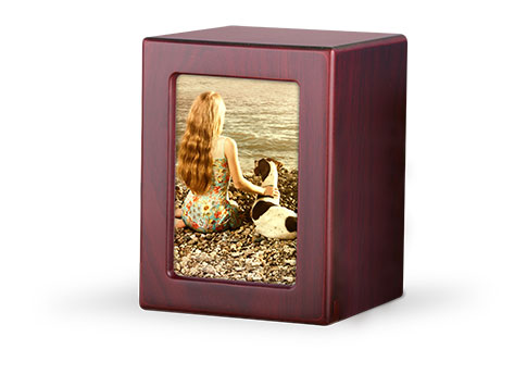 Wood Photo Urn - Cherry Image