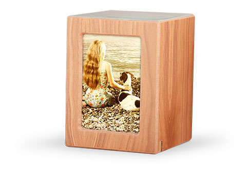 Wood Photo Urn - Natural Image