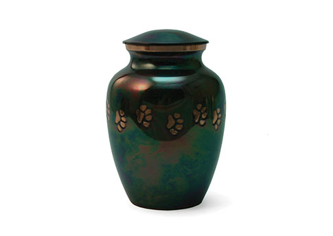 Classic Paw Print Urn - Raku Image