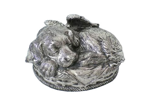 Bronze Urn - Dog Image