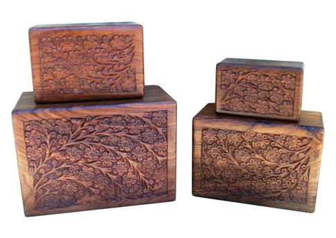 A Carved Wood Urn Image