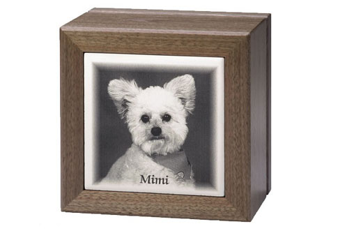 Ceramic Picture Tile Urn Image