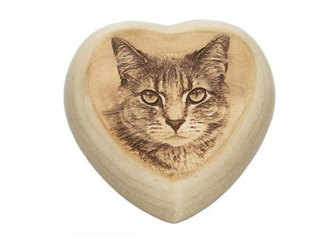 Heartfelt Heart with Laser Engraving - With Photo Image