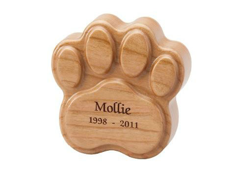 Heartfelt Paw with Laser Engraving - No Photo Image
