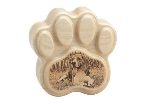 Heartfelt Paw with Laser Engraving - With Photo Image