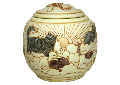 Jardinia - Forever and Ever Cat Urn Image