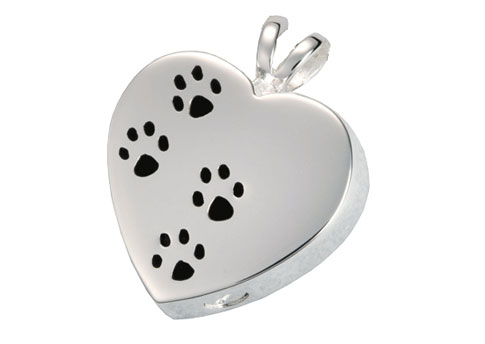 Paw Prints on My Heart Pendant Image